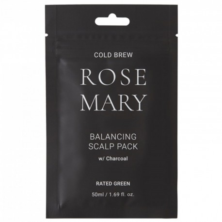 Cold brew ROSEMARY balancing scalp pack w/charcoal
